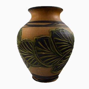 Large Danish Glazed Stoneware Vase from Kähler, 1930s