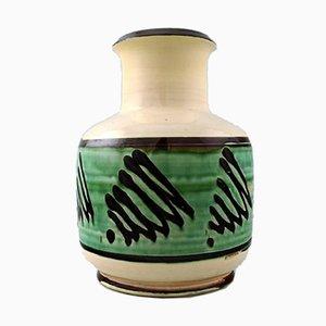 Danish Glazed Stoneware Vase from Kähler, 1930s