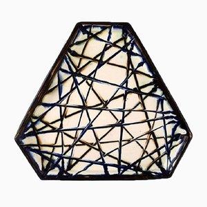 Danish Glazed Stoneware Platter from Kähler, 1940s