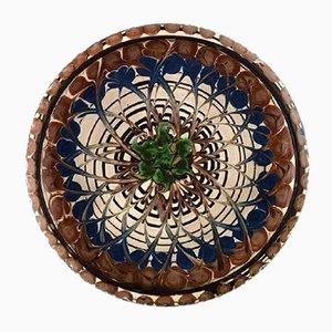 Glazed Stoneware Dish Bowl from Kahler, 1940s