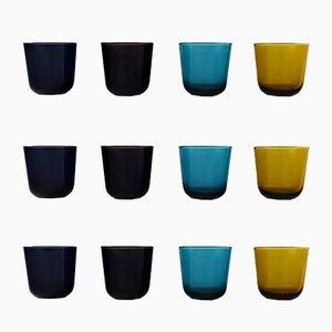 Bicchierini da vodka di Kaj Franck di Nuutajarvi Glass Works, set di 2