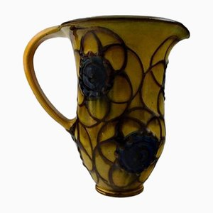 Glazed Stoneware Jug with Handle from Kahler, 1930s