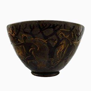 Bol en Céramique par Helge Vestergaard Jensen pour Kähler, 1920s