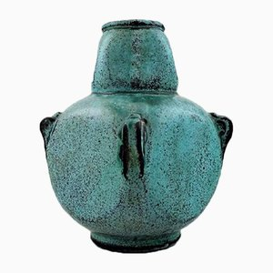 Danish Glazed Stoneware Vase by Svend Hammershøi for Kähler, 1930s