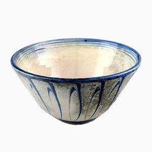 Large Glazed Stoneware Bowl from Kähler, 1920s