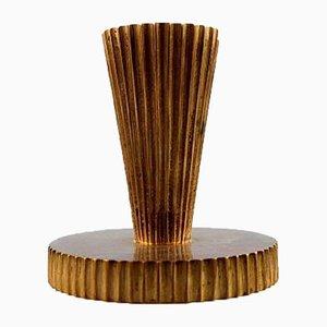 Art Deco Kerzenhalter aus Bronze, 1940er, 2er Set