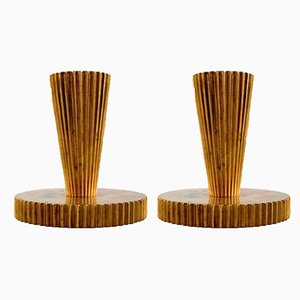 Art Deco Danish Candlesticks, 1940s, Set of 2
