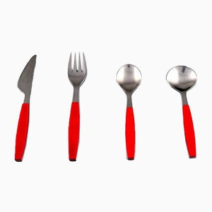 6 Person Strata Cutlery Set by Henning Koppel for Georg Jensen, 1970s