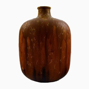 Italian Ceramic Glazed Brown Vase by Marcello Fantoni, 1970s