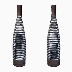 Große Pepita Bodenvasen aus Keramik von Ingrid Atterberg für Upsala Ekeby, 1950er, 2er Set