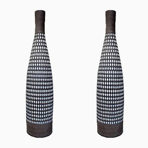 Huge Pepita Ceramic Floor Vases by Ingrid Atterberg for Upsala Ekeby, 1950s, Set of 2