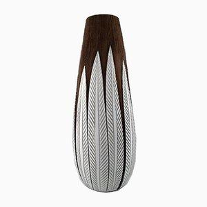 Large Vintage Paprika Ceramic Floor Vase by Anna-Lisa Thompson for Upsala-Ekeby