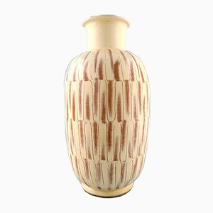 Large Modernist Danish Glazed Stoneware Floor Vase from Kähler, 1940s