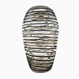 Skandinavische Vase aus Kunstglas, 1950er