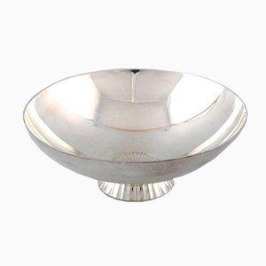 Cuenco modernista de plata esterlina de Sigvard Bernadotte de Georg Jensen