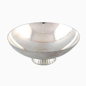 Mid-Century Sterling Silver Bowl by Sigvard Bernadotte for Georg Jensen