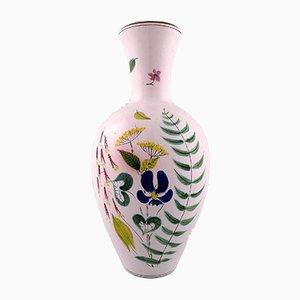 Große handbemalte Vase von Stig Lindberg für Gustavsberg, 1940er