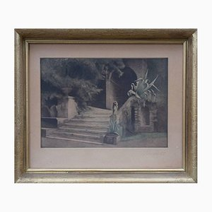 Oeuvre From the Garden in Villa d'Este par Peter Ilsted, 1931