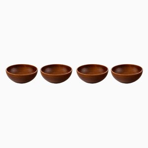 Teak Bowls by Kay Bojesen, 1950s, Set of 4