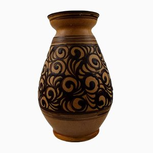 Vase aus glasiertem Steingut von Kähler, 1930er