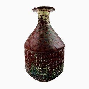Vaso grande in ceramica di Stig Lindberg per Gustavsberg, anni '60