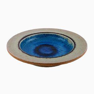 Danish Glazed Stoneware Dish by Nils Kähler, 1960s