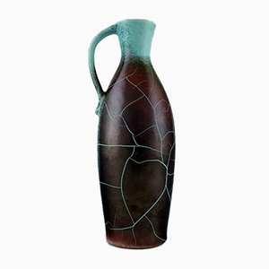 German Ceramic Pitcher with Cracked Glaze by Richard Uhlemeyer, 1950s