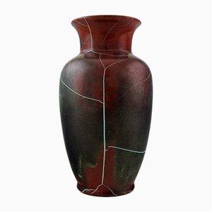 Jarrón alemán de cerámica con esmalte agrietado de Richard Uhlemeyer, años 50