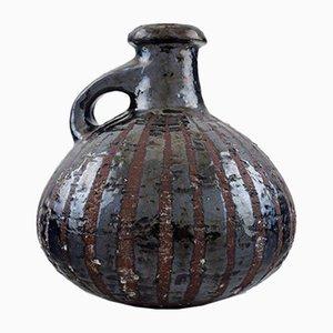 Jarrón Raku vintage de cerámica esmaltada de Gutte Eriksen