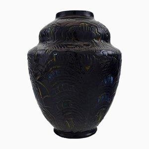 Große glasierte Keramikvase von Møller & Bøgely, 1920er