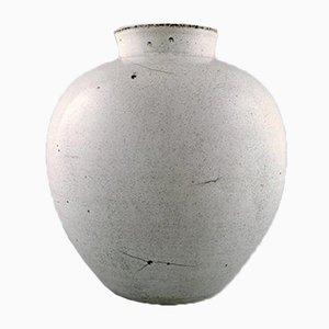 Große dänische Vase aus glasiertem Steingut von Svend Hammershøi für Kähler, 1930er