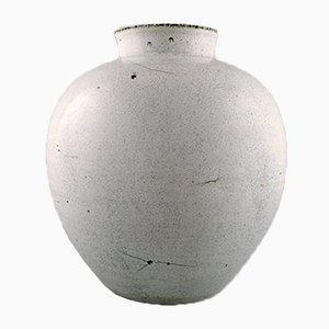 Large Danish Glazed Earthenware Vase by Svend Hammershøi for Kähler, 1930s