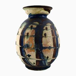 Dänische Vintage Vase aus glasiertem Steingut von Kähler