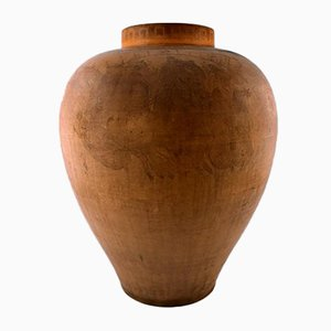 Large Antique Danish Terracotta Vase by P. Ipsen