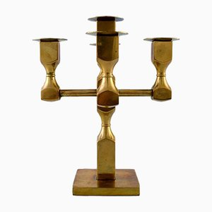 Schwedischer Vintage Kerzenhalter aus Metall & Messing mit 5 Armen