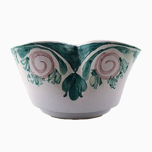 L 202 Pink and Green Glaze Ceramics Candlestick by Bjorn Wiinblad, 1988