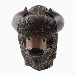 Swedish Bison Figurine by Göran Andersson vor Upsala-Ekeby, 1970s