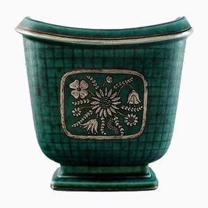 Vase Argenta Art Déco en Céramique par Wilhelm Kåge pour Gustavsberg, 1930s