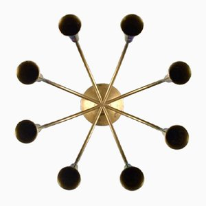 Mid-Century Danish 8-Armed Brass Candleholder from Illums Bolighus