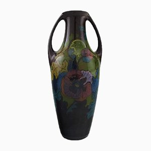 Art Nouveau Elrakka Ceramic Vase with Handles