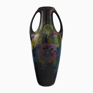 Vase Elrakka Art Nouveau en Céramique avec Poignées