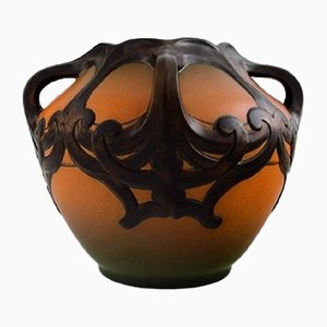 Art Nouveau Danish Model 710 Ceramic Vase from Ipsen's