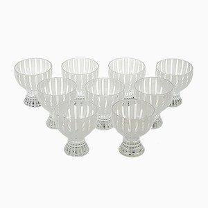 Bicchieri da cocktail Strict di Bengt Orup per Johansfors, anni '50, set di 9