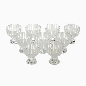Strict Cocktail Glasses by Bengt Orup for Johansfors, 1950s, Set of 9