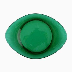 Vintage Hummer Teller aus grünem Glas von Josef Frank für Reijmyre & Gullaskruf, 8er Set