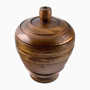 Art Deco Bronze Lidded Jar from Cawa, 1940s