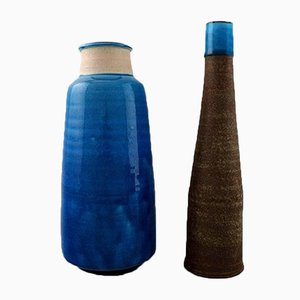 Glazed Stoneware Vase Set by Nils Kähler from Kähler, 1960s