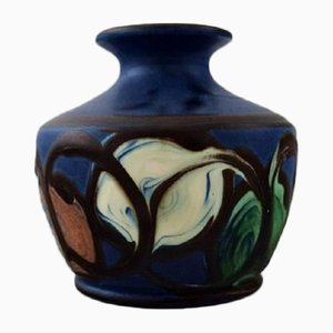 Glazed Stoneware Vase from Kähler, 1940s