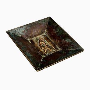 Dekoratives Art Deco Bronze Set von GAB, 1930er, 3er Set
