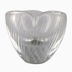 Vase aus Klarglas von Tapio Wirkkala für Iittala, 1960er